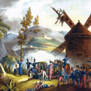 The Battle of Roliça, fought on 17th August 1808 in the Peninsular War