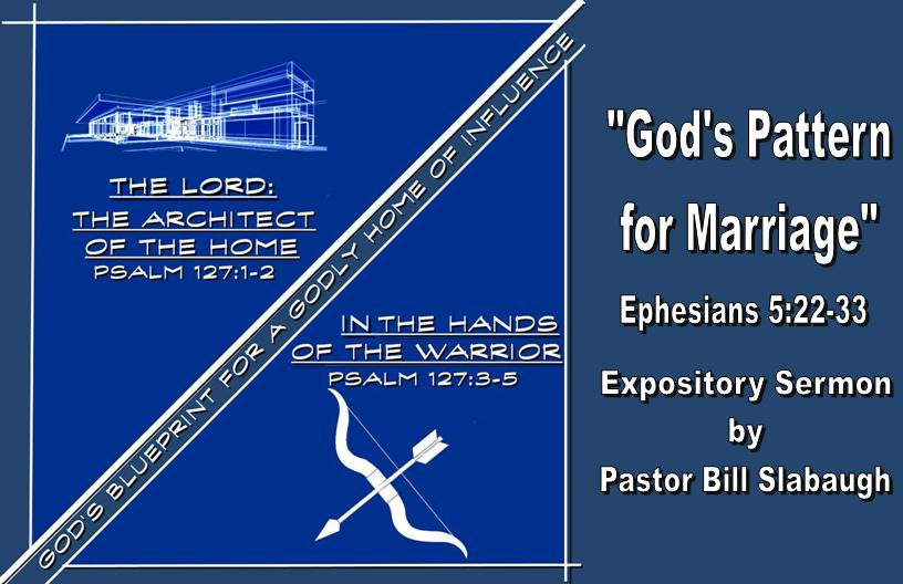 Sermon Outline: God's Pattern for Marriage