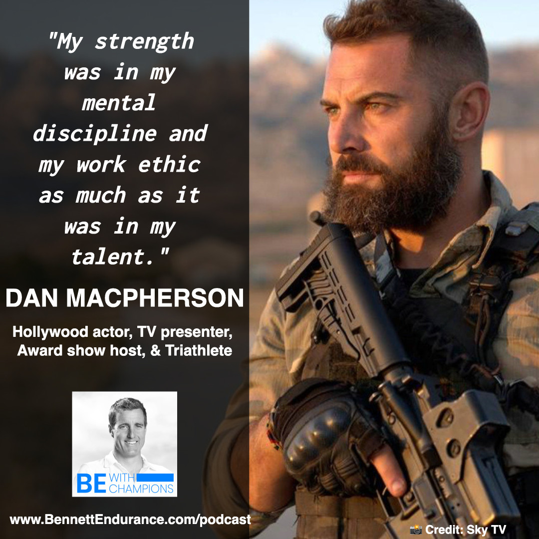 Dan Macpherson - Hollywood actor, Television presenter, award show host, and Triathlete.