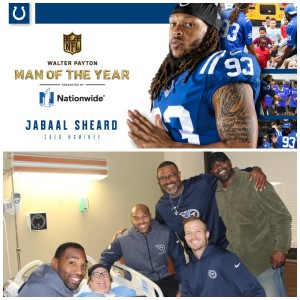 Thursday Night Tailgate Spotlight on the Positive: Colts DE Jabaal Sheard and Tennessee Titans Alumni Players