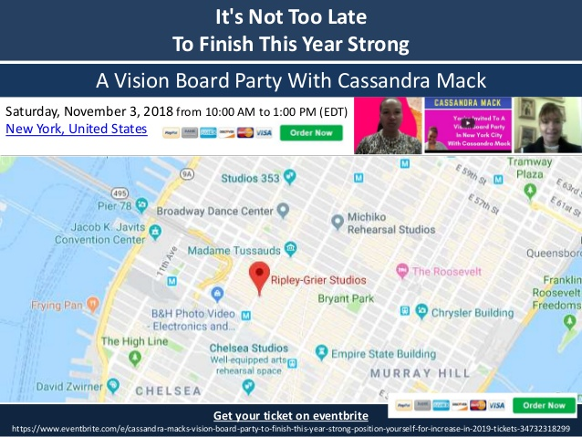 Join Vision Board Party With Cassandra Mack at Manhattan on November 3, 2018