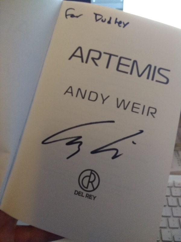 Artemis: Andy Weir recorded live in the Planetarium