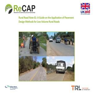 Podcast on the Rural Road Note 01 on Pavement Design Methods for Low Volume Roads
