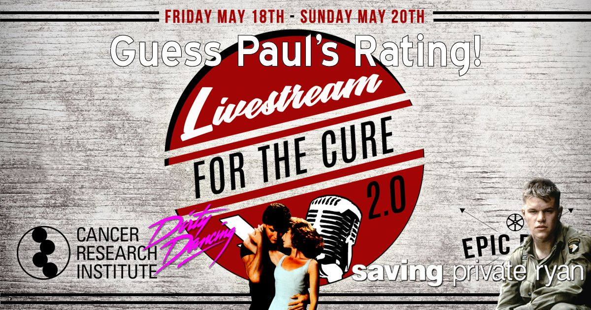 Livestream for the Cure 2.0 - Guess Paul's Rating w/ Paul from The Countdown!