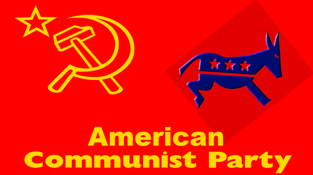 Red Star of Communism Over the Democratic Party