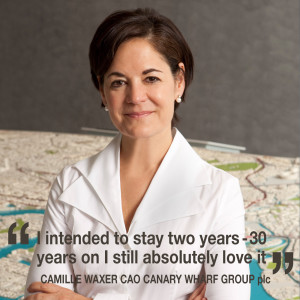 Helen chats to Camille Waxer, CAO of Canary Wharf Group plc