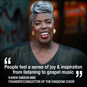 Helen chats to the founder/conductor of the gospel choir who sang at the Royal wedding