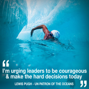 Helen chats to UN Patron of the Oceans Lewis Pugh