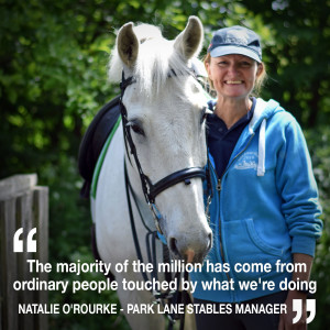 Natalie O'Rourke shares how people power & £1 million in donations saved Park Lane Stables