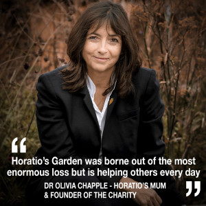 Helen chats to the founder of Horatio's Garden, Dr Olivia Chapple