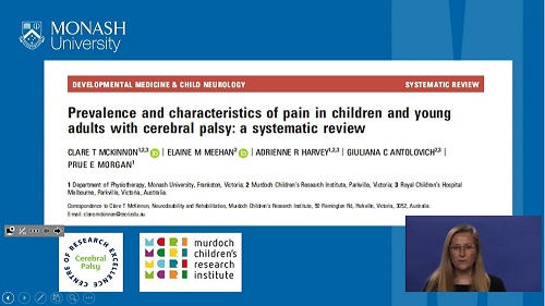 DMCN: Prevalence and characteristics of pain in children and young adults with cerebral palsy