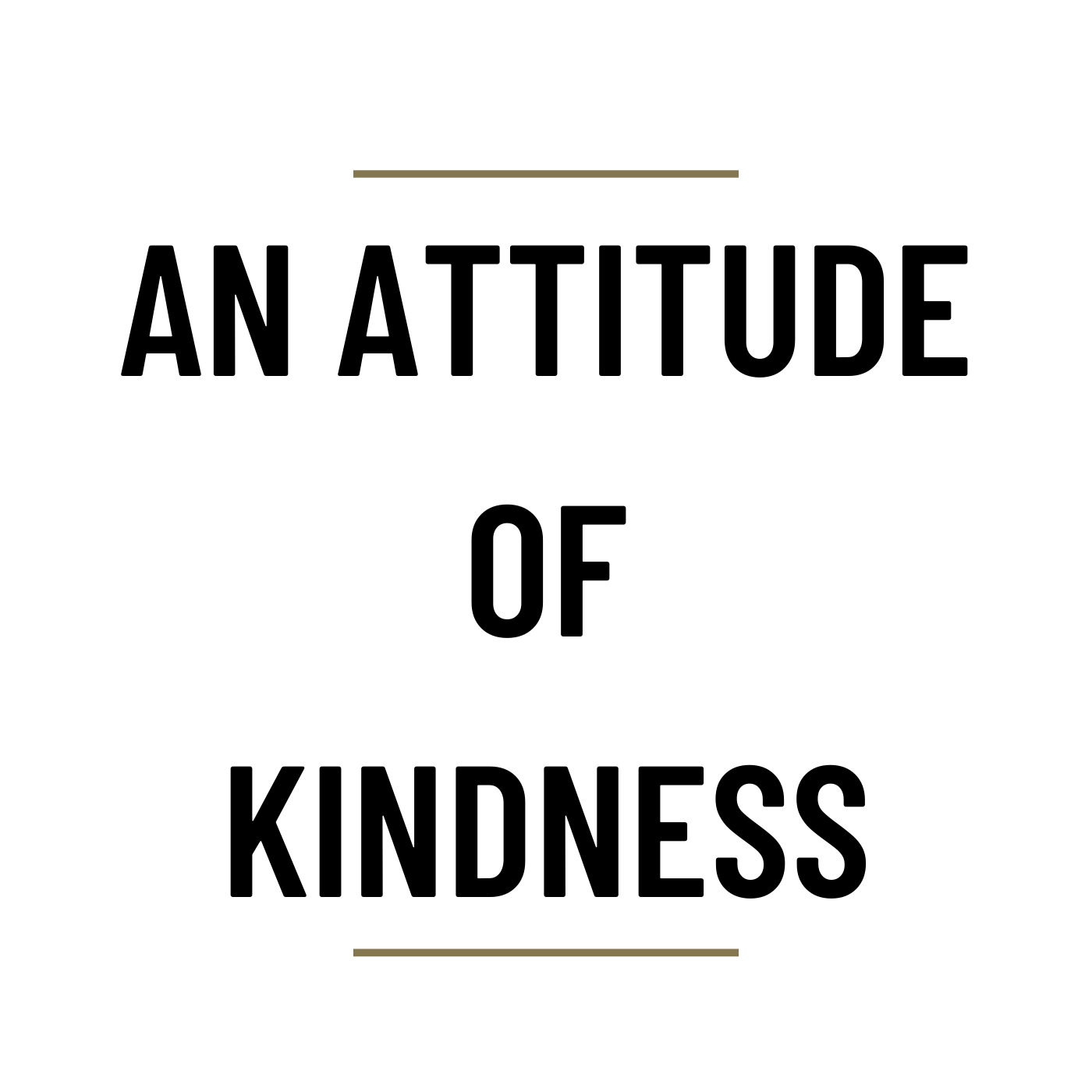 MS75 - An attitude of Kindness