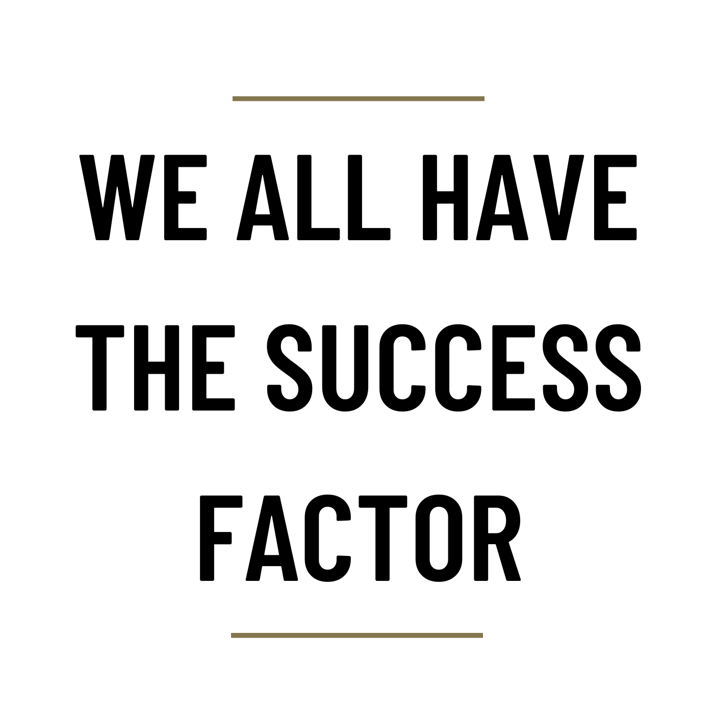 MS72 - We all have the Success Factor
