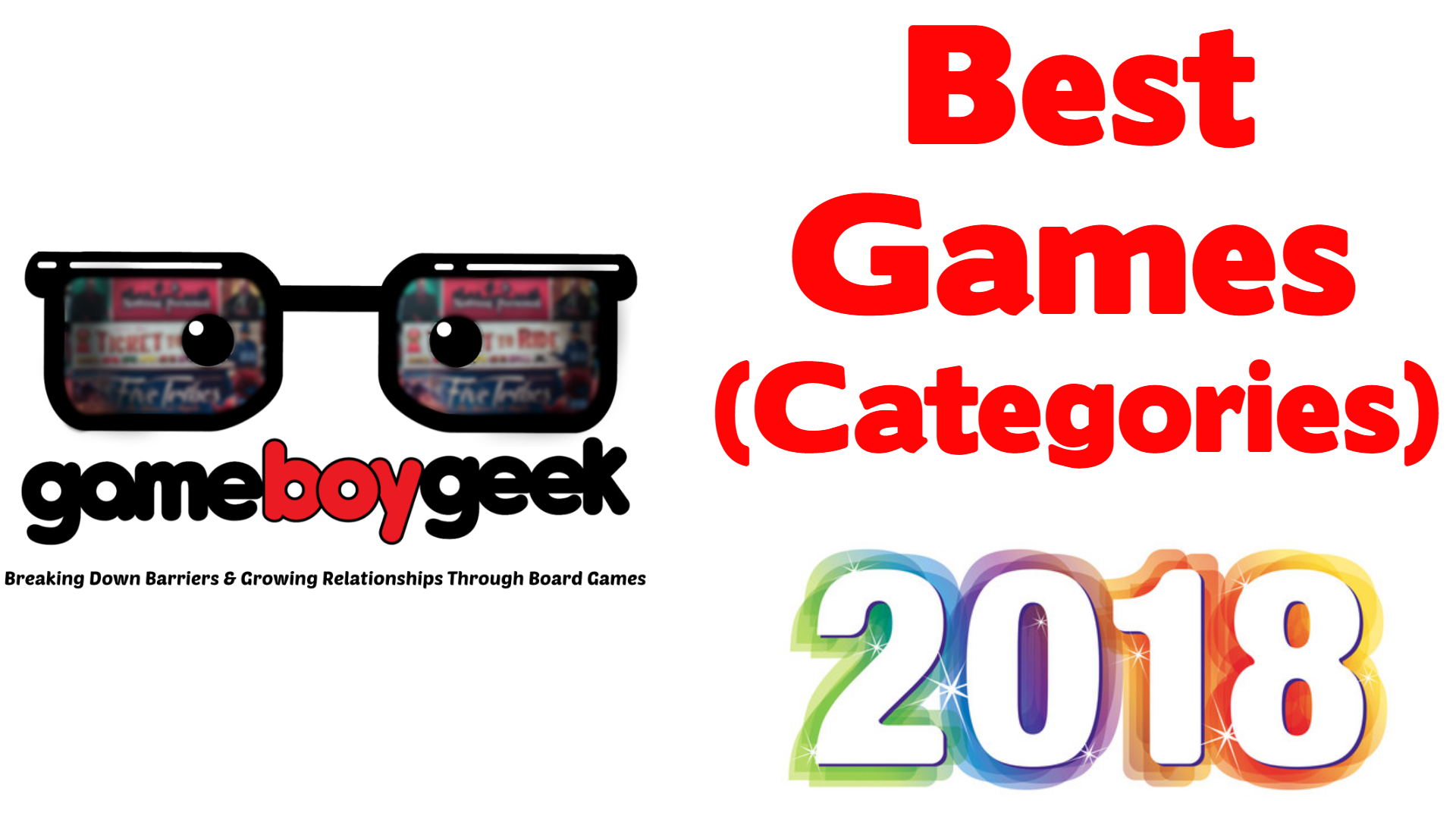 Best Board Games of 2018 (Categories) with the Game Boy Geek