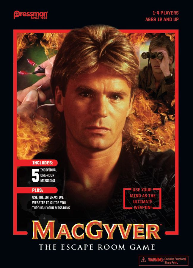 Macgyver: The Escape Room game Review with the Game Boy Geek