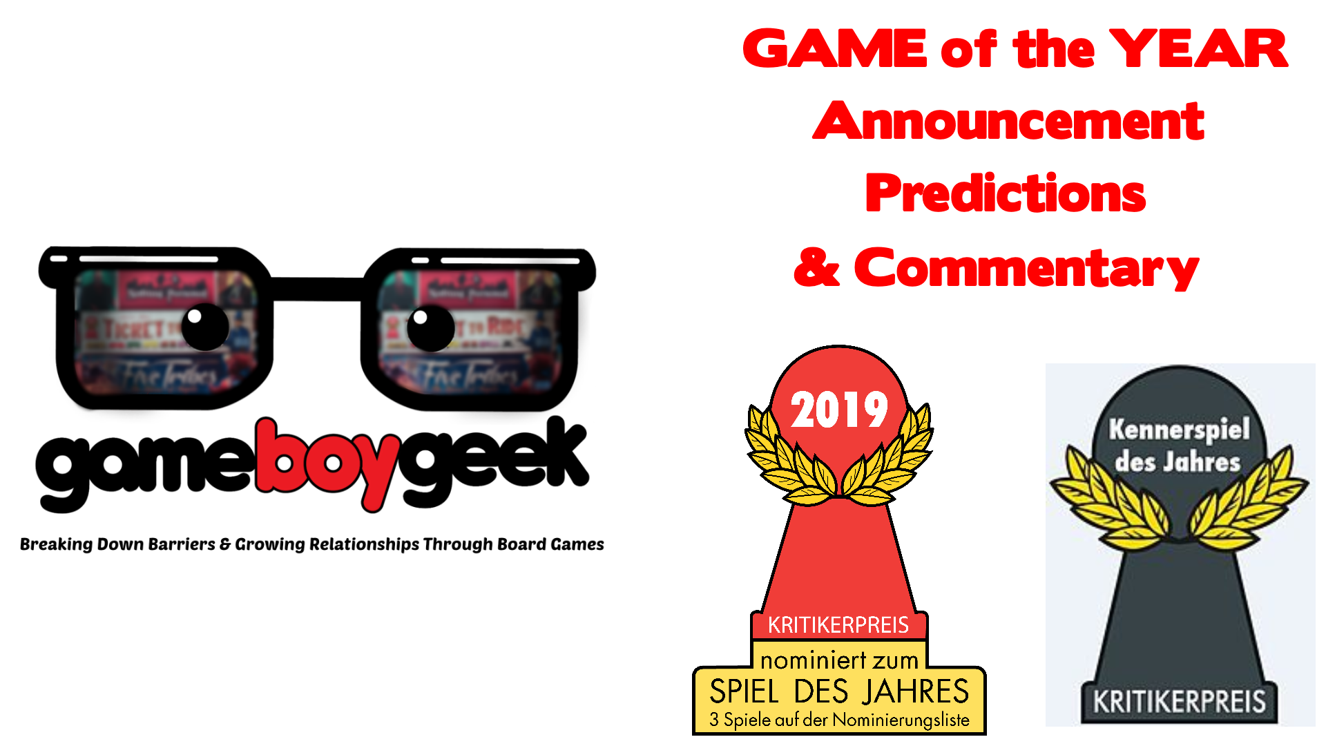 2019 Game of the Year Spiel Des Jahres & Kennerspiel Announcement, Predicitons, & Commentary with th