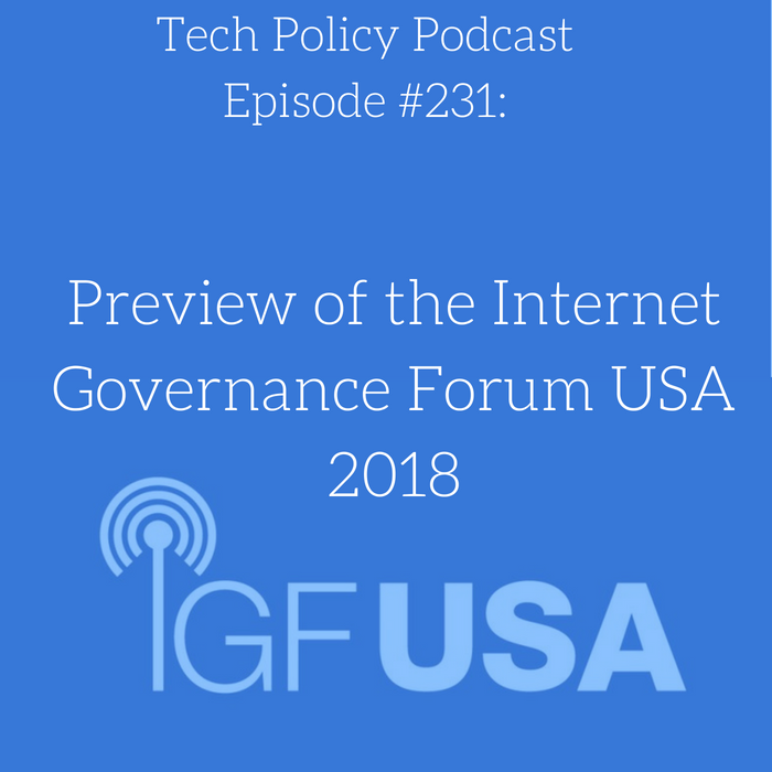 #231: Preview of the Internet Governance Forum USA 2018
