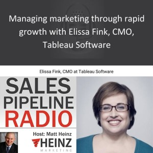 Managing marketing through rapid growth with Elissa Fink, CMO, Tableau Software