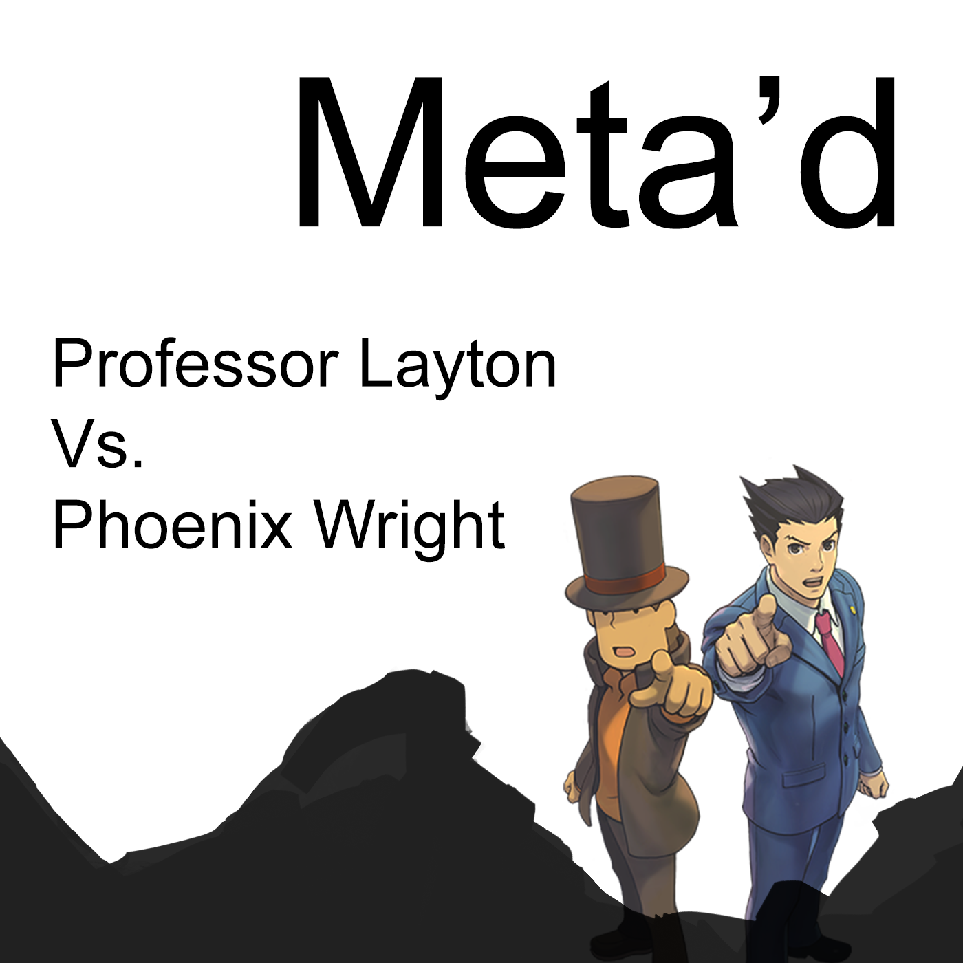 Professor Layton and Phoenix Wright