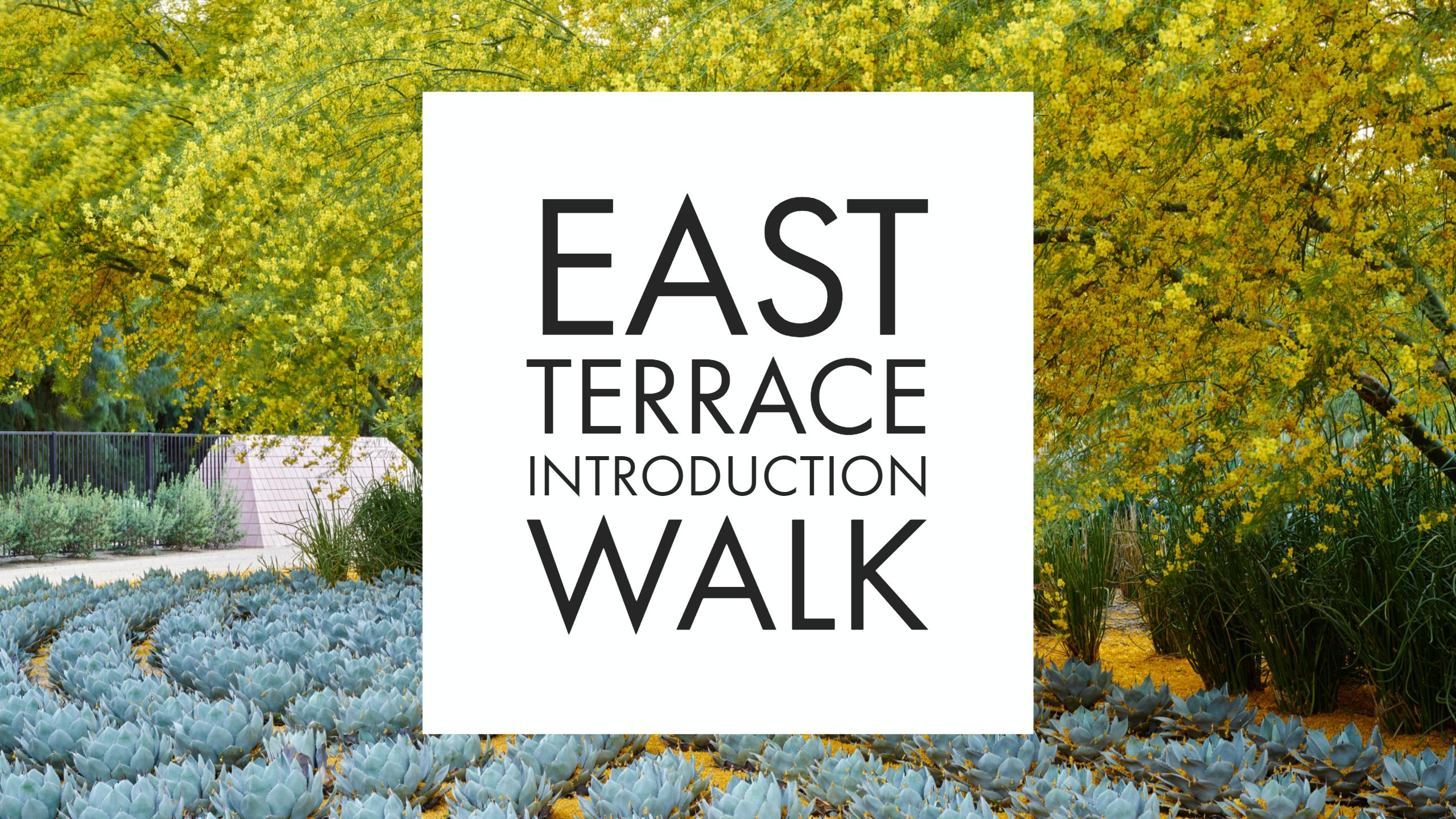 East Terrace Introduction Walk