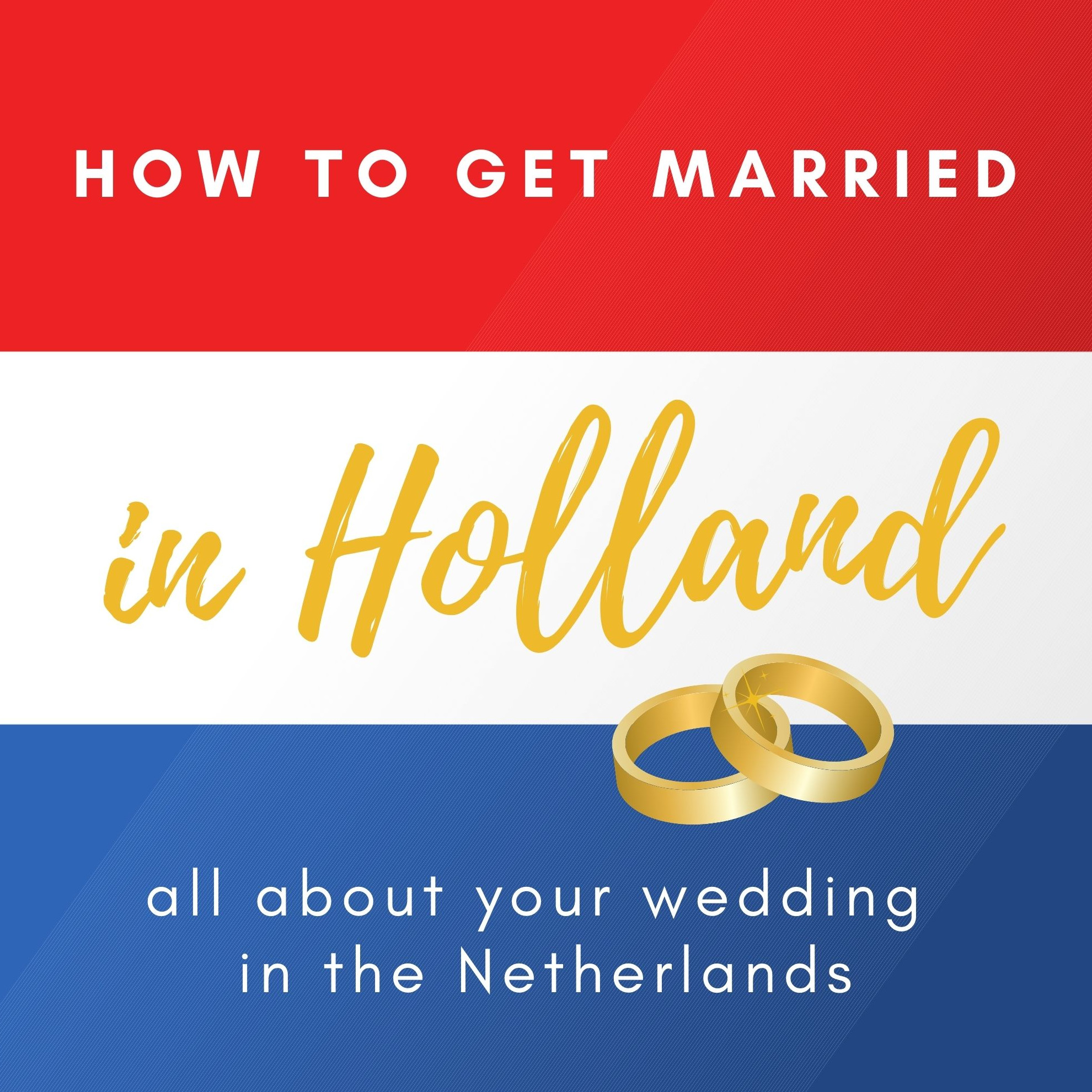 How to get married in Holland logo
