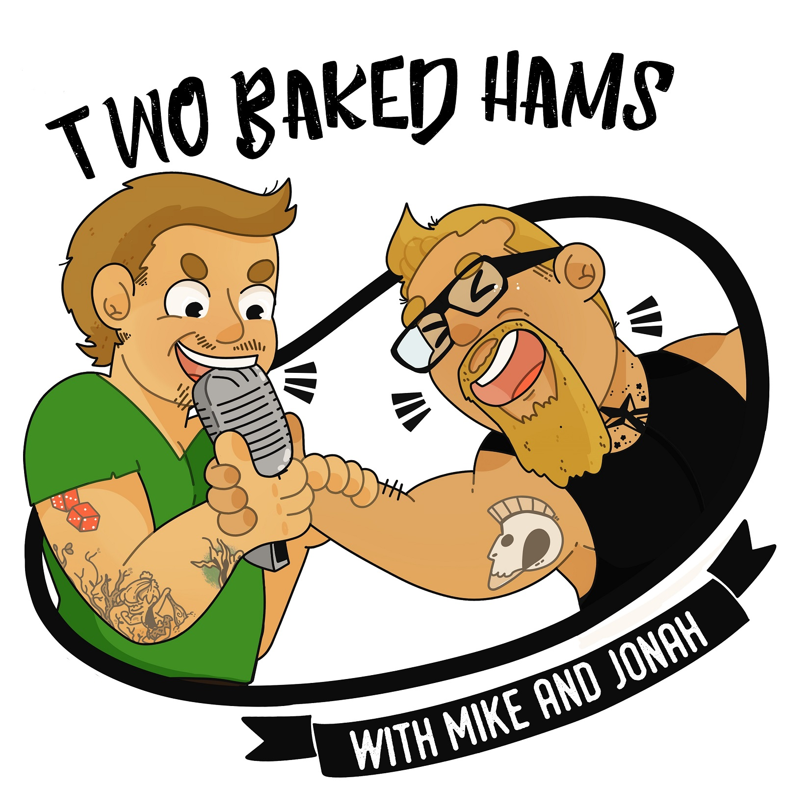 Two Baked Hams with Mike and Jonah