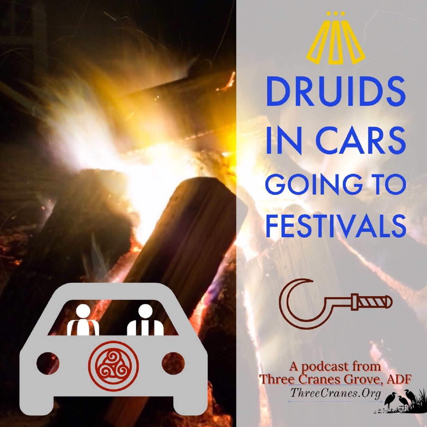 Druids In Cars, Going To Festivals