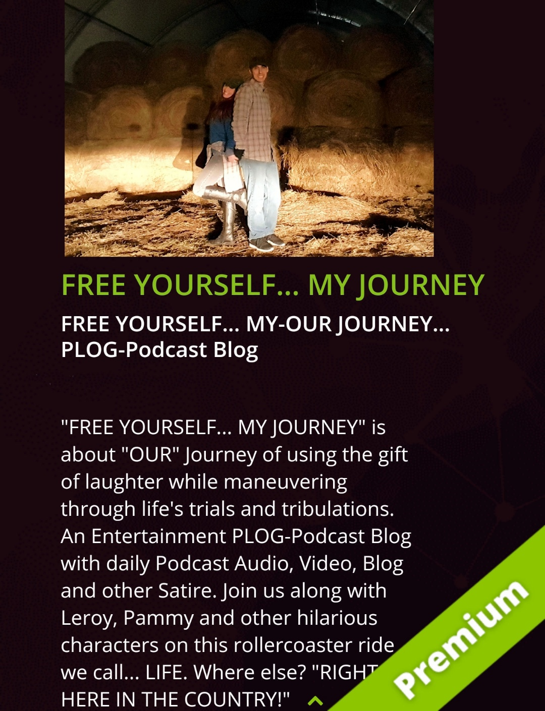 FREE YOURSELF… MY-OUR JOURNEY… PLOG-Podcast Blog