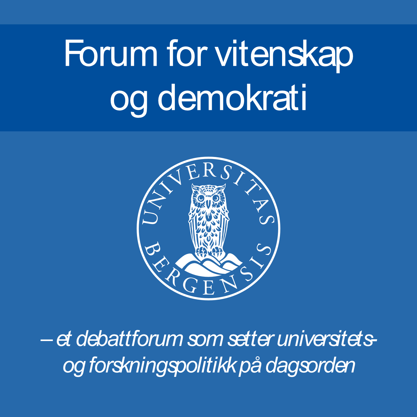 Forum for vitenskap og demokrati