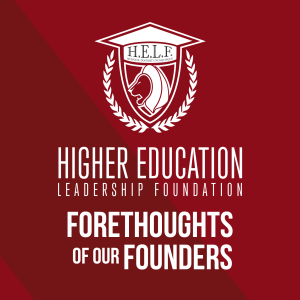 Forethoughts of our Founders