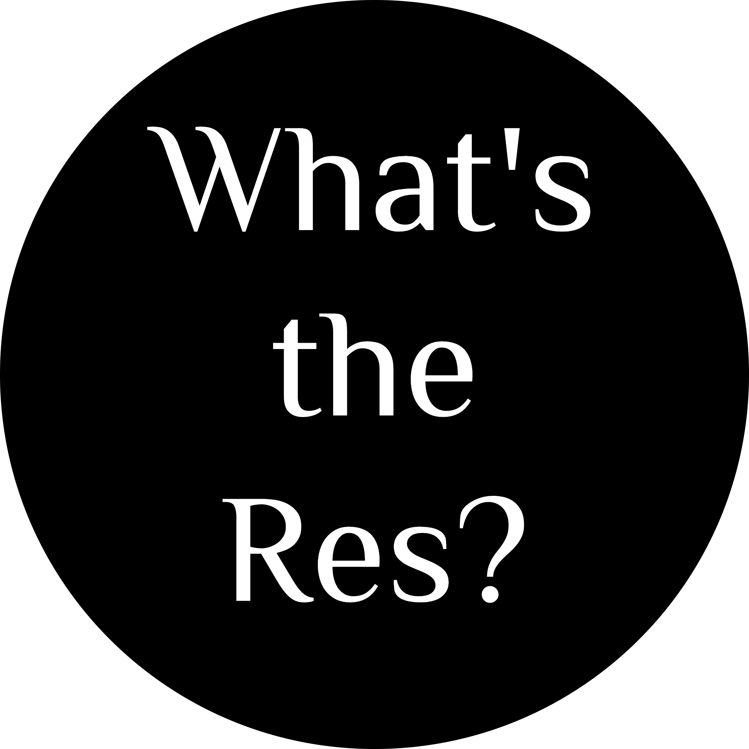 What's the Res?